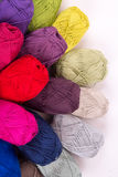 Colorful skeins of Yarn. Rainbow color Stock Photos