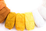 Colorful skeins of Yarn. On white background Stock Photography