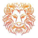 Colorful sketch of lion head Royalty Free Stock Photos