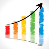 Colorful sketch market graph. Stock Royalty Free Stock Photography