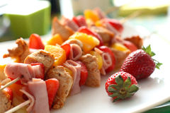 Colorful skewers Stock Photo