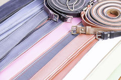Colorful skin belts Stock Image