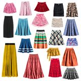 Colorful skirts isolated stock photo