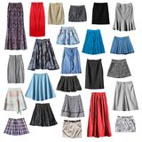Colorful skirts isolated stock photos