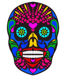 Colorful skull. Vector illustration of colorful skull Royalty Free Stock Images