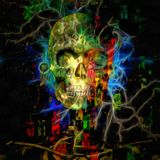 Colorful Skull. In painterly style Stock Images