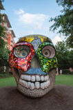 Colorful skull sculpture Stock Photography