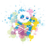 Colorful skull splatter Royalty Free Stock Photography