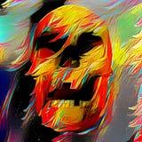 Colorful skull vector illustration