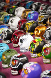 Colorful skulls Stock Image