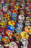Colorful skulls Stock Images