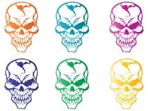 Colorful Skulls Stock Image