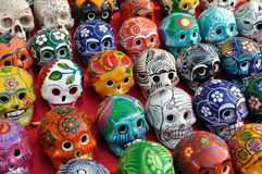 Colorful Skulls for Sale at Chichen Itza Stock Photos