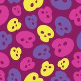Colorful Skulls  seamless pattern Stock Photos