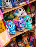Colorful skulls souvenirs Royalty Free Stock Image