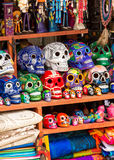 Colorful skulls souvenirs. Somewhere in Mexico Royalty Free Stock Image
