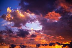 Colorful Sky Backdrop Royalty Free Stock Images