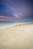Colorful sky at the beach Stock Photography