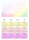 Colorful sky calendar 2016 Stock Images