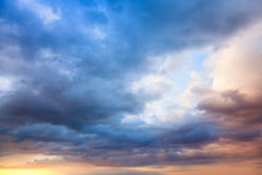 Colorful sky with clouds at early morning Royalty Free Stock Photo