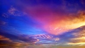 Colorful sky at sunset. Colorful sky with clouds at sunset Royalty Free Stock Images