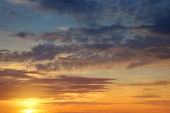 Colorful sky with clouds at sunset Royalty Free Stock Photos