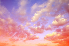 Colorful sky with clouds at sunset. Royalty Free Stock Photography