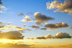 Colorful sky with clouds at sunset. Royalty Free Stock Photo