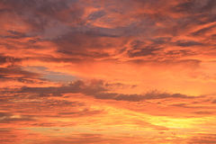 Colorful Sky. Colorful cloudy sky at sunset/sunrise as a background stock images