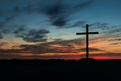 Colorful Sky Cross Stock Photo