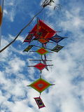 Colorful in the sky. Handmade mobile at Loei province in Thailand Stock Photo