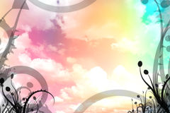Colorful sky illustration Stock Image