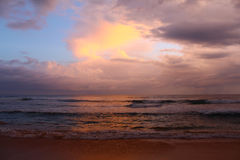 Colorful sky and the Indian ocean after sunset Royalty Free Stock Photography