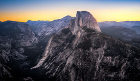 Colorful Sky over Half Dome stock images