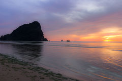 Colorful sky on sunrise Royalty Free Stock Photo