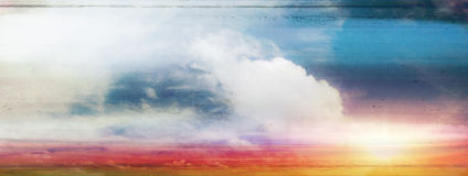 Colorful sky and sunrise Royalty Free Stock Photography