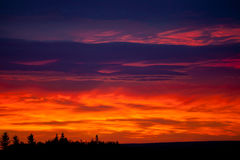 Colorful sky at sunrise Stock Images