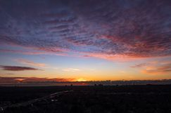 Colorful Sky Before Sunrise stock photo