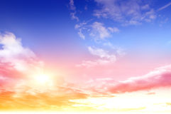 Colorful sky and sunrise. Natural landscape Royalty Free Stock Photo