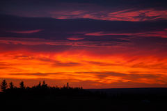 Colorful sky at sunrise Stock Photos