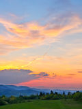 Colorful sky after sunset Royalty Free Stock Image