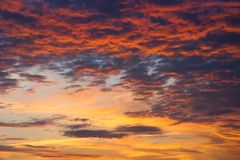 Colorful sky sunset royalty free stock images