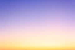 Colorful sky in twilight time Royalty Free Stock Photography