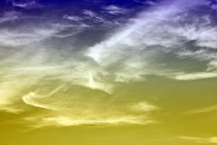 Colorful sky and white clouds Stock Photo