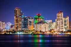 Colorful Skyline San Diego Royalty Free Stock Photography