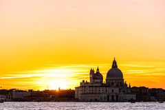 Colorful skyline of Venice, Italy at sunset. stock images