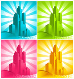 Colorful Skyscrapers Stock Photos