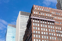 Colorful skyscrappers in New York, USA Royalty Free Stock Images