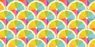 Colorful slice of orange or lemon. Rainbow slice with red, orange, yellow, blue, green, and purple colors Stock Photos