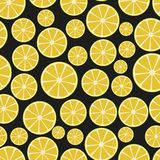 Colorful sliced lemon fruits seamless pattern Stock Photography